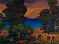 arcadian california harvest by horatio nelson poole