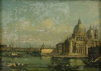 santa maria della salute - venedig by francesco guardi