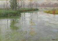 au bord de la canche or on the banks of the canche at montreuil-sur-mer by frits thaulow