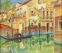 kanal in venedig by imre denes de bolcskey