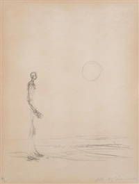 man standing and sun by alberto giacometti