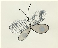 large butterfly by andy warhol