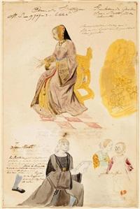 jean marot überreicht anne von britannien sein manuskript by eugène delacroix