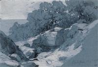 contreforts rocheux à bordighera by alexandre calame