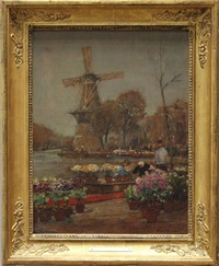 blumenmarkt in holland by hans herrmann