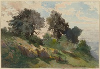 hill near kreutznach by alexandre calame