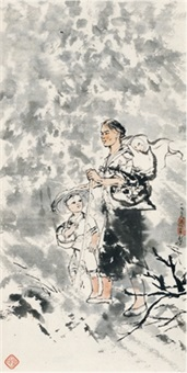 母子 (mother and son) by cheng shifa