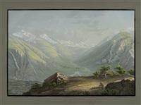 vue contre st. marie et la vallée de medels by johann ludwig (louis) bleuler