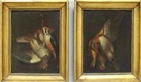 trompe-l'oeil mit erlegten vögeln (+ another; pair) by anonymous (18)