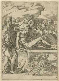 die grablegung christi (zweite fassung) by parmigianino