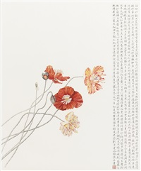 poppies in early summer in manhattan by liu dan