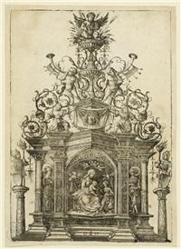 altar mit der mystischen hochzeit der heiligen katharina by daniel hopfer
