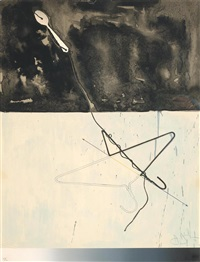 coat hanger and spoon (from fragment - according to what) by jasper johns