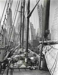 theoline, pier 11, east river, ny, 1935 by berenice abbott
