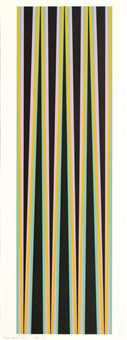 ohne titel (elongated triangles 6) by bridget riley