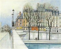 ile de la cite (sold with 398b; set of 2) by h. rolf rafflewski