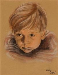 a portrait of jackie cooper as skippy by henri sabin
