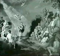 orpheus playing to the gods on mount olympus by claes nicolas jacobsz tol