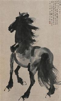 立马图 by xu beihong