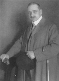 porträt prof. arthur bock, bildhauer by rudolph duhrkoop