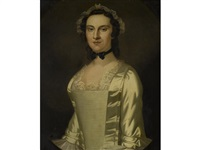 portrait of a lady (possibly maria morris) by john wollaston