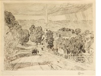 a vermont village (at peacham) by childe hassam