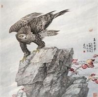 雄鹰图 by zhang ce