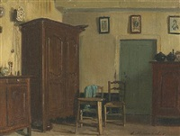 a study of an interior by eugène ernest hillemacher