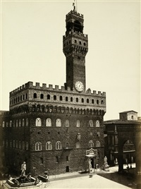 view of palazzo vecchio (+ 2 others; set of 3) by fratelli alinari