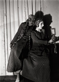 claude cahun with solange roussot in barbe bleue by claude cahun