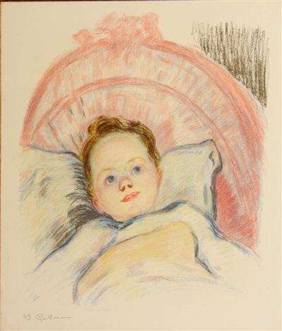 portrait de marguerite ou tête denfant by armand guillaumin