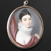 bildnis einer dame mit halskrause by giuseppe de albertis