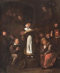 zusammenkunft einer quäkergemeinde by egbert van heemskerck the elder