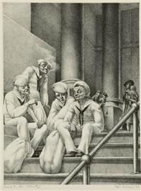 sailors in penn station by kyra markham