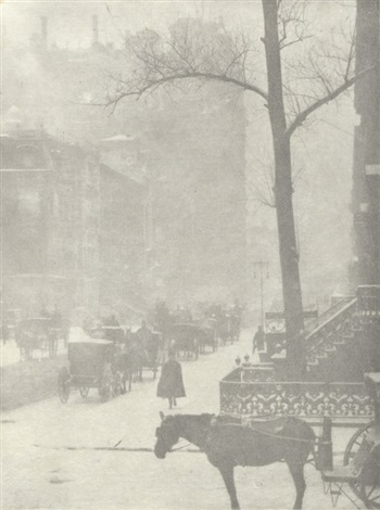 the street design for a poster by alfred stieglitz