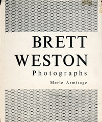 1_photographs. 102 p. with numerous illustrations after photographs by brett weston on plates. 34 x 28 cm. original black cloth with silver pressed title on spine in original dust jacket (corners lightly bumped, scratch on surface, dust jacket with repaire by brett weston