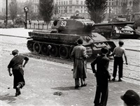 june 17, 1953, uprising in berlin (2 works) by wolfgang albrecht
