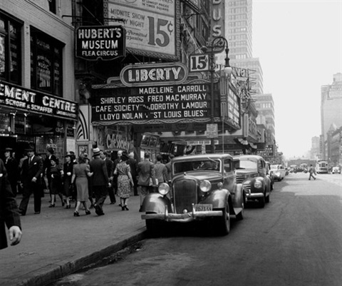 cafe society and the flea circus 42nd street new york from new york images by joe schwartz