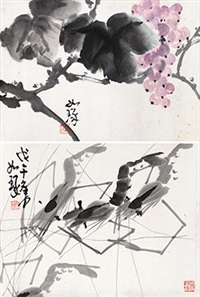 小品二帧 (2 works) by cui ruzhuo