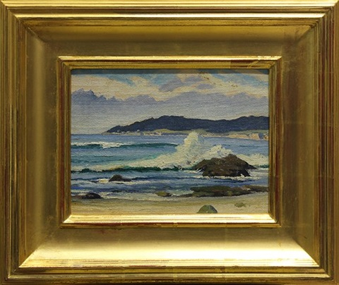 view of pebble beach by arthur hill gilbert