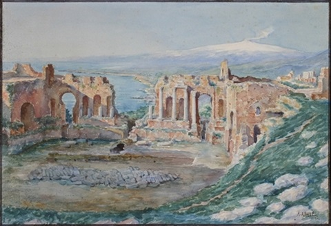 teatro greco taormina mit blick auf den aetna by alessandro abate