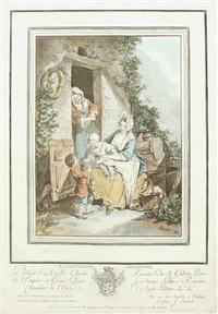 la confiance enfantine (+ la crainte enfantine, 17775; 2 works after sigmund freudenberger) by jean françois janinet