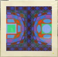 compositions (from viva; 2 works) by victor vasarely