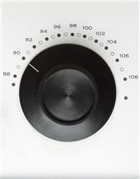untitled, klh table fm radio dial, circa 1960 by todd eberle