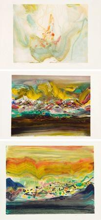 版画 (3 works; various sizes) by chu teh-chun