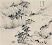 秋江图 by xiao junxian