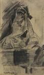 seated veiled woman by george hendrik breitner