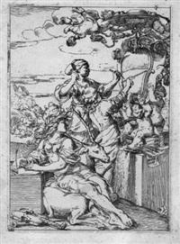 allegorie der künste: malerei, poesie und skulptur by domenico ambrogi