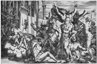 der sieg über die unwissenheit oder die erleuchtung franz i., könig von frankreich (after rosso fiorentino) by rené boyvin
