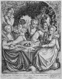 die geschichte vom verlorenen sohn (4 works) by nicolaes de bruyn